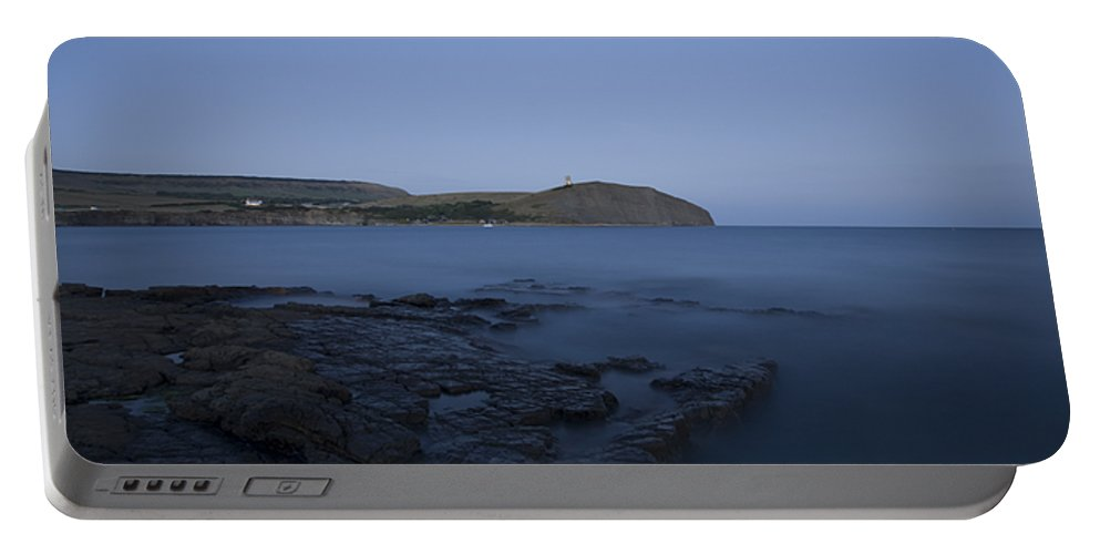 Kimmeridge Portable Battery Charger featuring the photograph Kimmeridge Bay At Dusk In Dorset by Ian Middleton