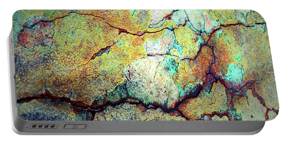 Abstract Portable Battery Charger featuring the photograph Life Lines by Tara Turner