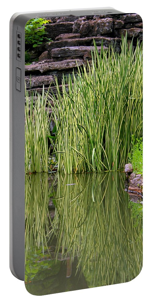 Reeds Portable Battery Charger featuring the photograph Peaceful Spot by Kristin Elmquist