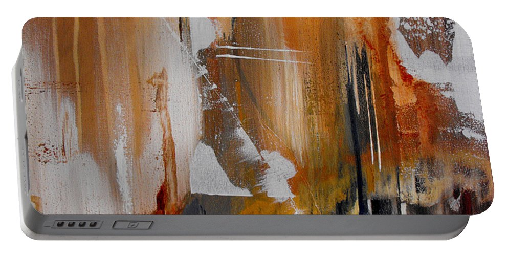 Abstract Portable Battery Charger featuring the painting Turbulent Times II by Ruth Palmer