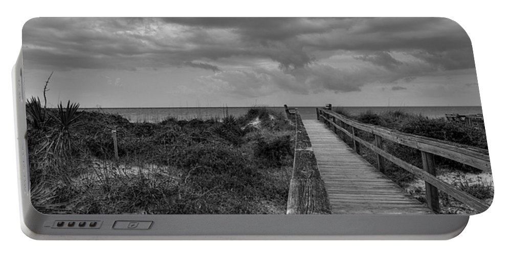 Beach Walk Portable Battery Charger featuring the photograph Walk To The Beach Alantic Beaches Nc by Tommy Anderson