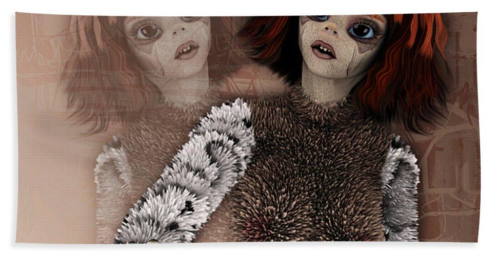 3d Beach Towel featuring the digital art Do Not Hurt Me by Jutta Maria Pusl