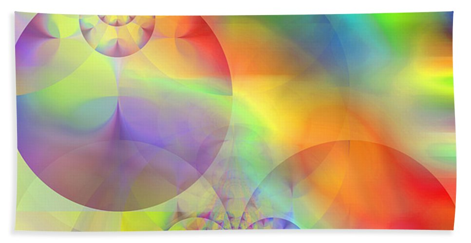 Abstract Beach Towel featuring the digital art Mind Over Matter by Ruth Palmer