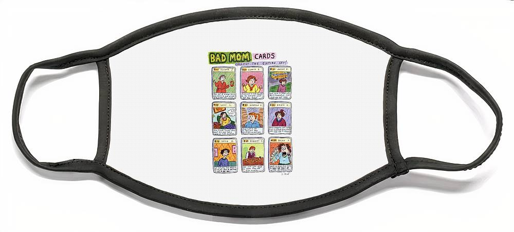Bad Mom Cards Collect The Whole Set Face Mask