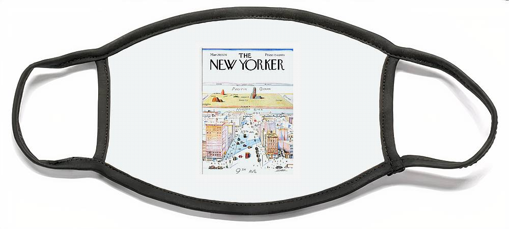 New Yorker March 29, 1976 Face Mask
