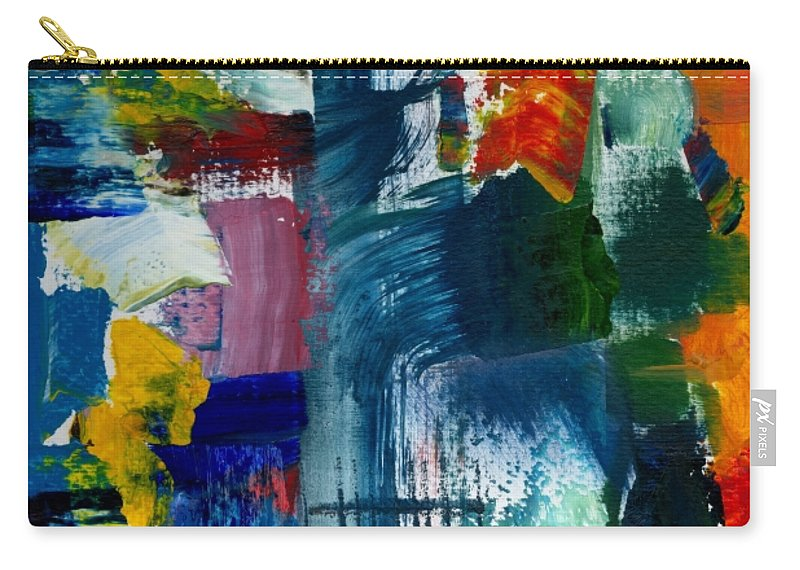 Abstract Collage Carry-all Pouch featuring the painting Abstract Color Relationships L by Michelle Calkins