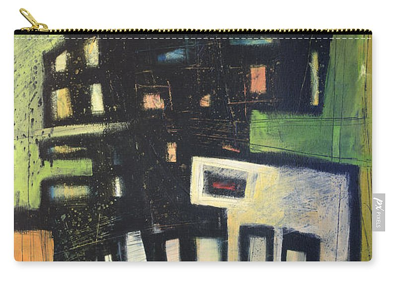 Abstract Carry-all Pouch featuring the painting D Flat by Tim Nyberg