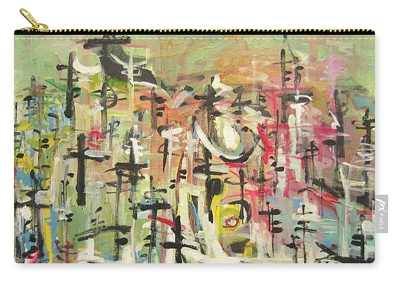 Blow Me Down Painting Carry-all Pouch featuring the painting Blow Me Down11 by Seon-Jeong Kim