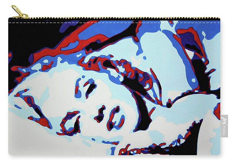 Marilyn Monroe Carry-all Pouch featuring the painting Marilyn by Luis Ludzska