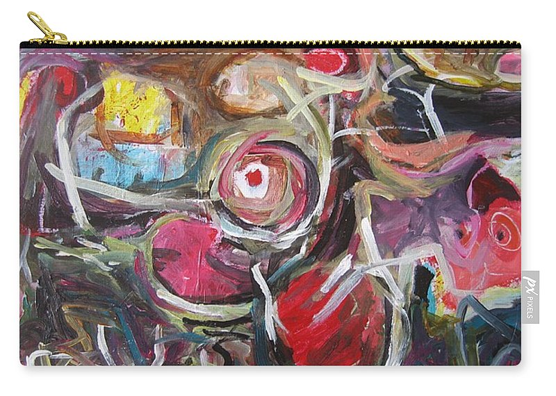 Abstract Paintings Carry-all Pouch featuring the painting Abandoned Ideas3 by Seon-Jeong Kim