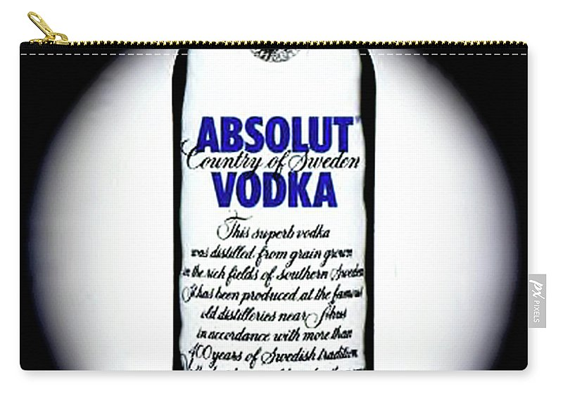 Absolut Vodka Carry-all Pouch featuring the painting Absolut Vodka by Luis Ludzska
