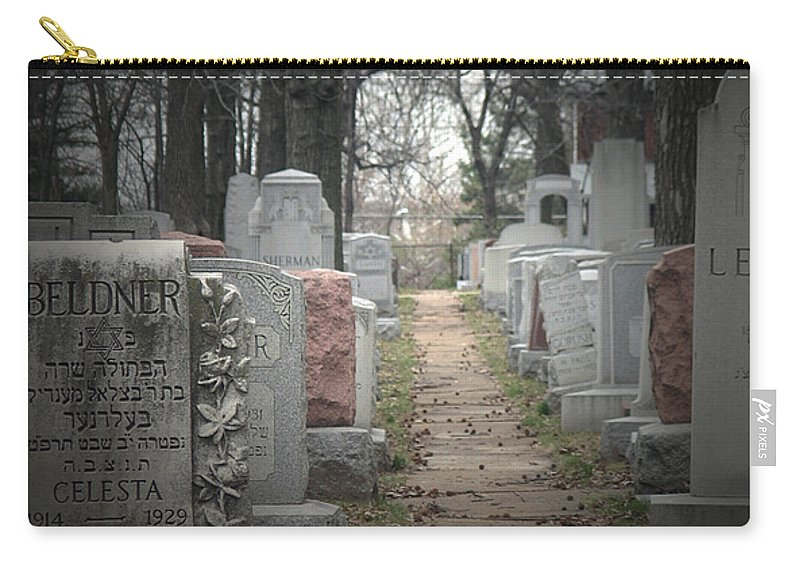 Cemetary Carry-all Pouch featuring the photograph Closure by Albert Stewart