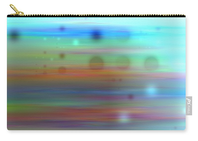 Art Digital Art Carry-all Pouch featuring the digital art Color26mlv - Impressions by Alex Porter