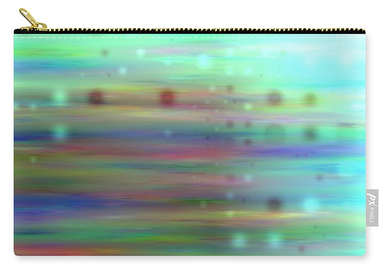 Art Digital Art Carry-all Pouch featuring the digital art Colour16mlv - Impressions by Alex Porter