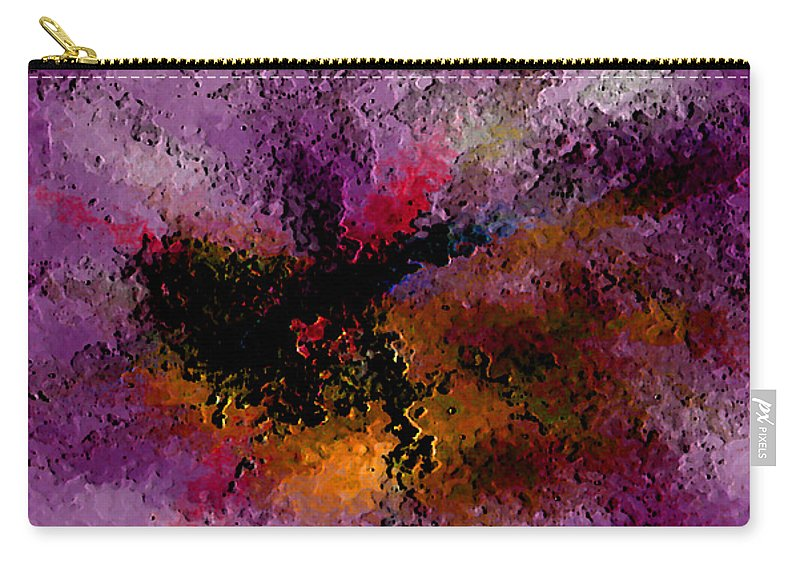 Abstract Carry-all Pouch featuring the digital art Damaged But Not Broken by Ruth Palmer