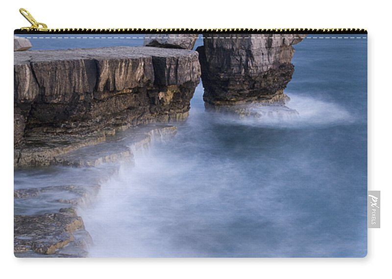 Attraction Carry-all Pouch featuring the photograph Dorset Seascape by Ian Middleton