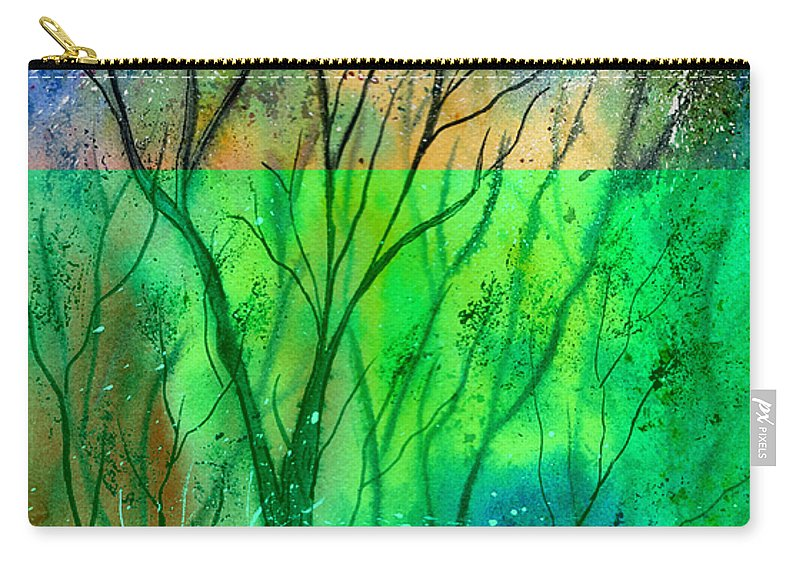 Watercolor Carry-all Pouch featuring the painting Forest Fire by Brenda Owen