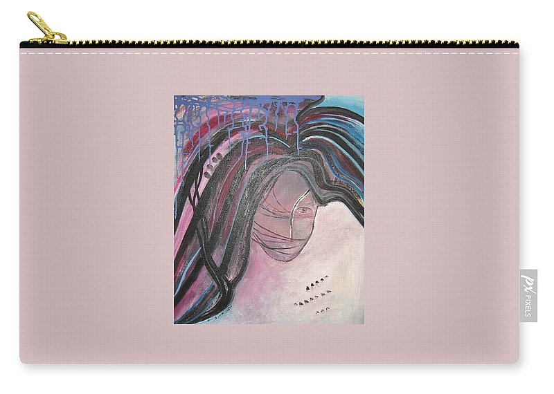 Abstract Paintings Carry-all Pouch featuring the painting I by Seon-Jeong Kim