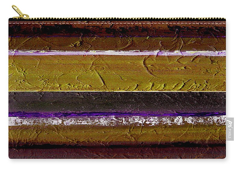 Abstract Carry-all Pouch featuring the painting Lined Up by Ruth Palmer