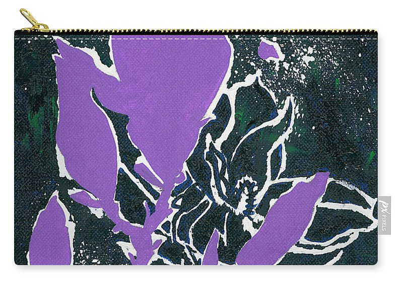 Flowers Carry-all Pouch featuring the painting Magnolias by Elisabeta Hermann