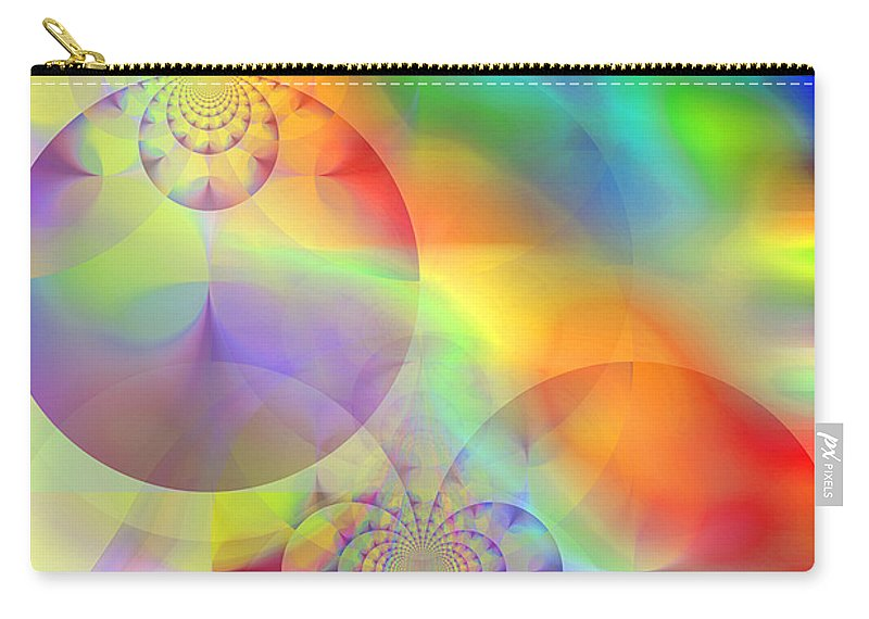 Abstract Carry-all Pouch featuring the digital art Mind Over Matter by Ruth Palmer