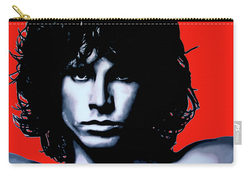 Morrison Carry-all Pouch featuring the painting Morrison by Luis Ludzska