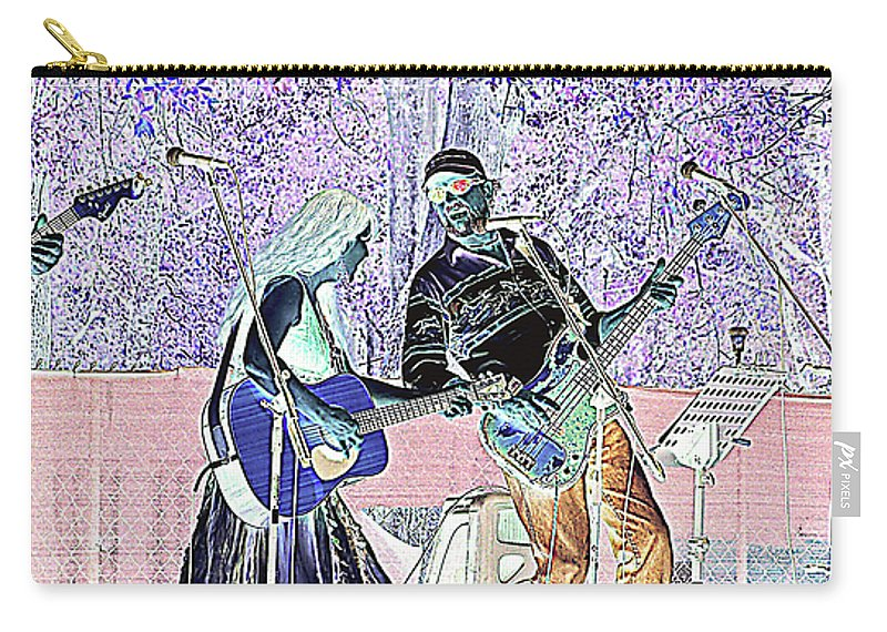 Guitars Carry-all Pouch featuring the photograph Performers On Stage by Marilyn Holkham