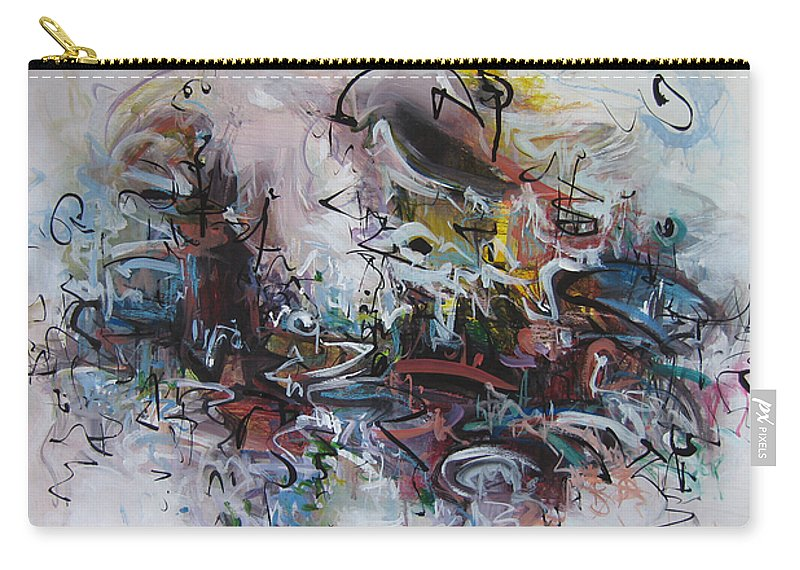Painting Carry-all Pouch featuring the painting Seascape206 by Seon-Jeong Kim