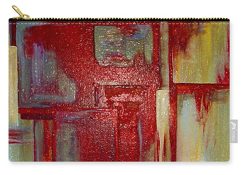 Abstract Carry-all Pouch featuring the digital art Sections Revisited by Ruth Palmer