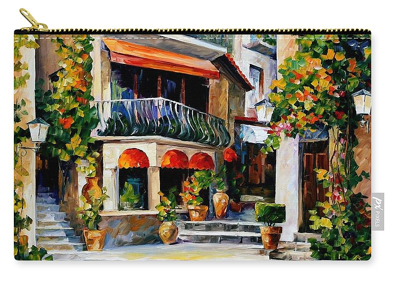 Afremov Carry-all Pouch featuring the painting Sicily - Spring Morning by Leonid Afremov