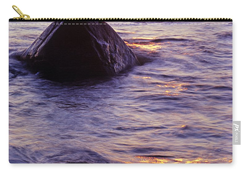 Abstract Carry-all Pouch featuring the photograph Sunset Lights by Konstantin Dikovsky