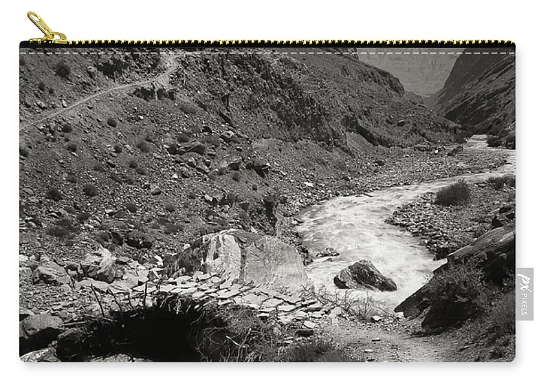Active Carry-all Pouch featuring the photograph The Crossing by Konstantin Dikovsky