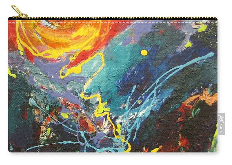 Abstract Paintings Carry-all Pouch featuring the painting The Narrows by Seon-Jeong Kim