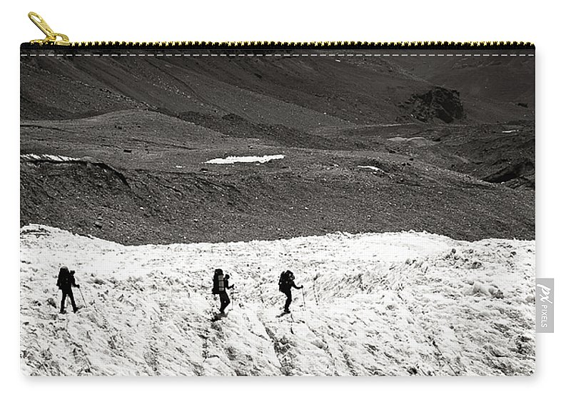 Active Carry-all Pouch featuring the photograph They Are Going ... by Konstantin Dikovsky