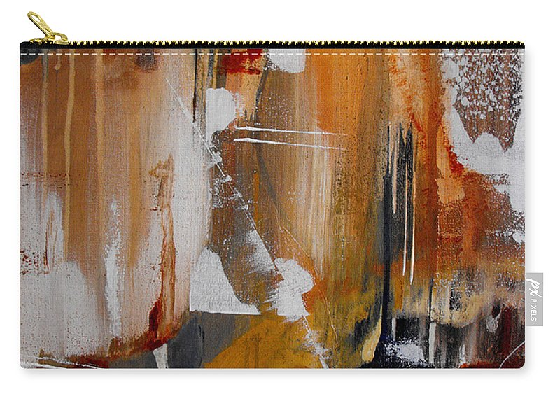 Abstract Carry-all Pouch featuring the painting Turbulent Times II by Ruth Palmer