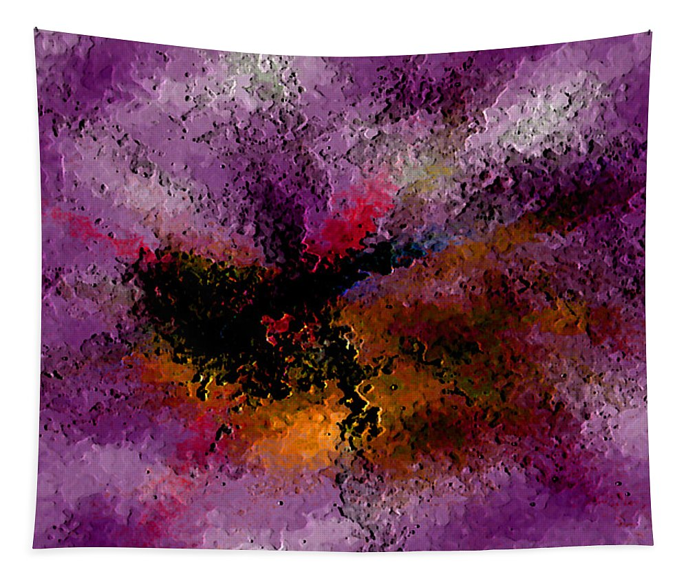 Abstract Tapestry featuring the digital art Damaged But Not Broken by Ruth Palmer