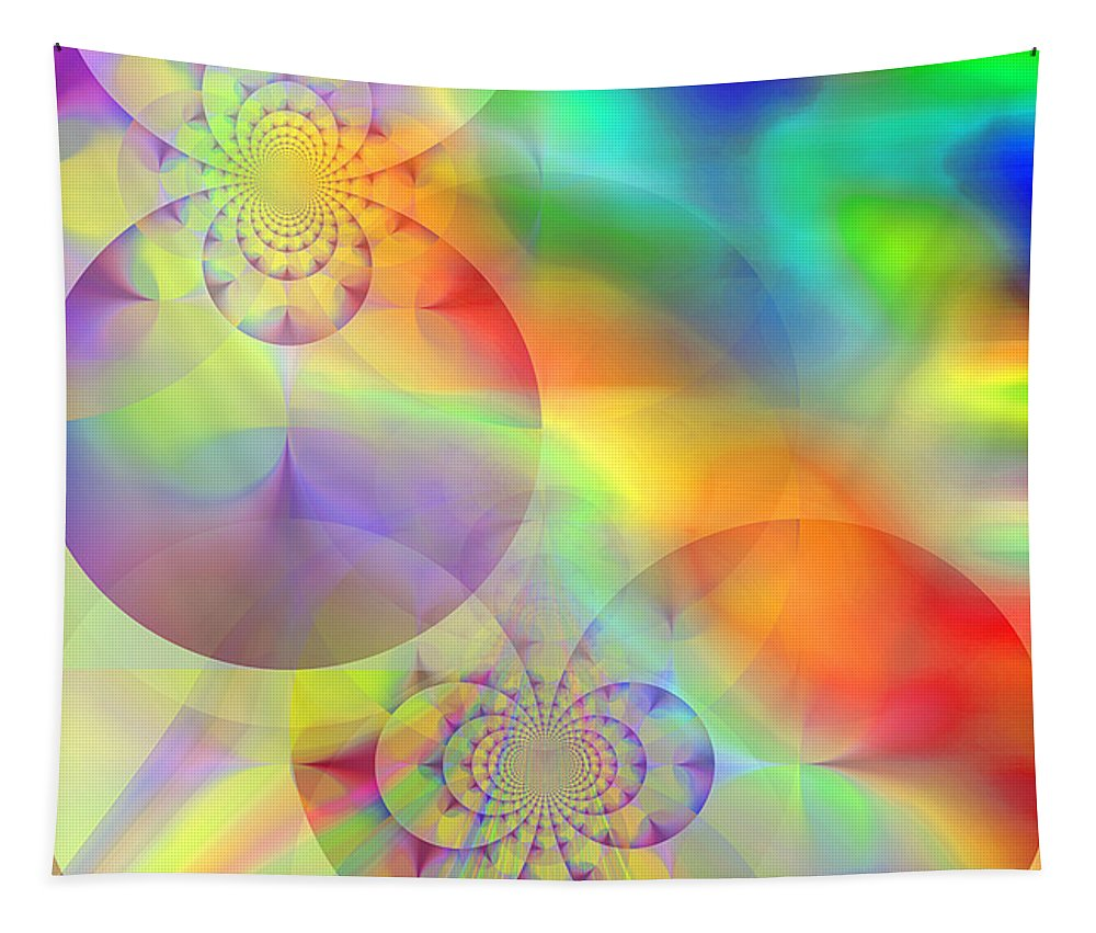 Abstract Tapestry featuring the digital art Mind Over Matter by Ruth Palmer