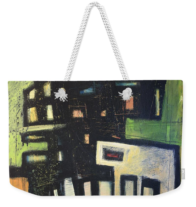 Abstract Weekender Tote Bag featuring the painting D Flat by Tim Nyberg