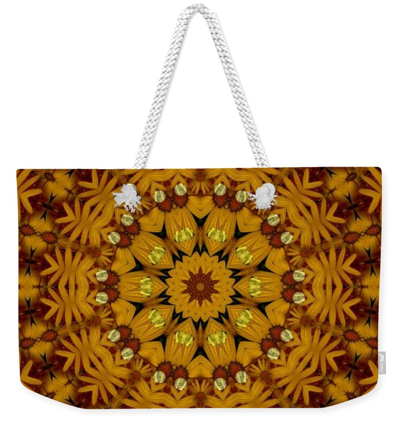 Flowers Weekender Tote Bag featuring the mixed media Popart Flowers by Pepita Selles