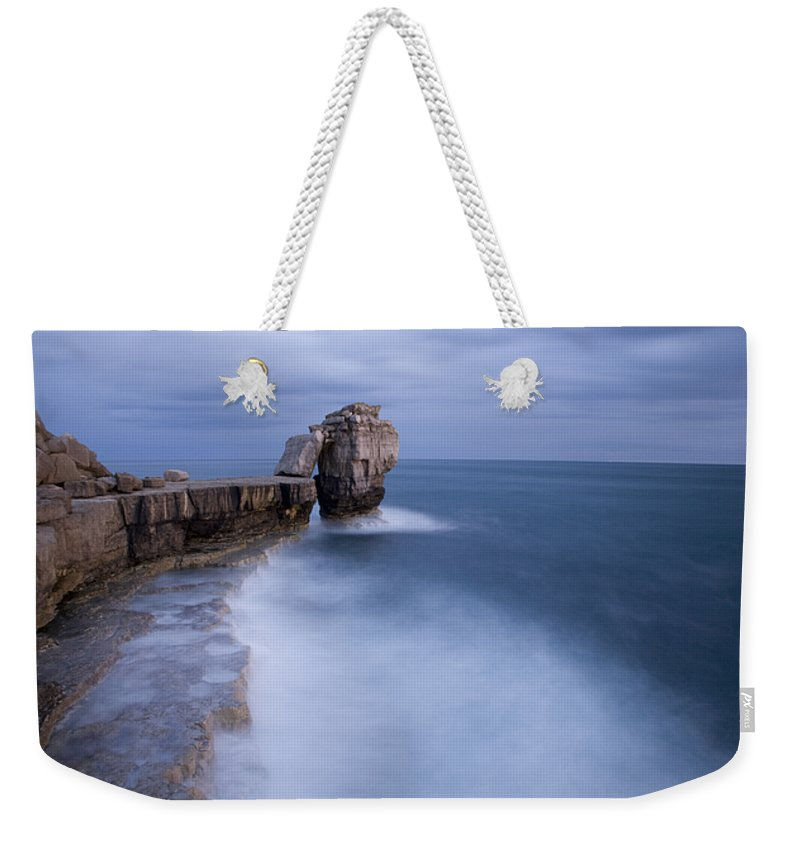 Portland Weekender Tote Bag featuring the photograph Portland Bill Seascapes by Ian Middleton