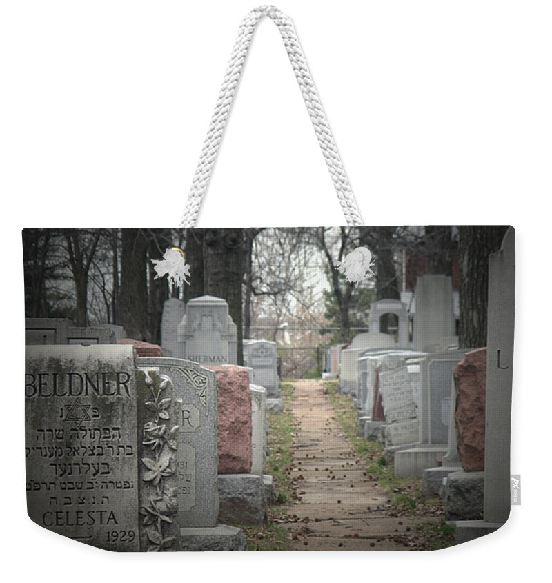 Cemetary Weekender Tote Bag featuring the photograph Closure by Albert Stewart