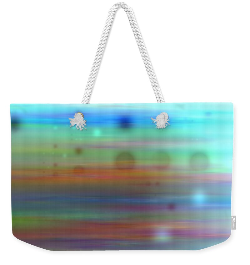 Art Digital Art Weekender Tote Bag featuring the digital art Color26mlv - Impressions by Alex Porter