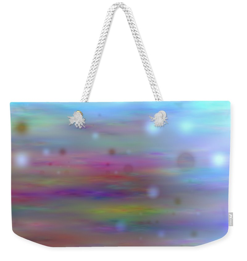 Art Digital Art Weekender Tote Bag featuring the digital art Colour11mlv - Impressions by Alex Porter
