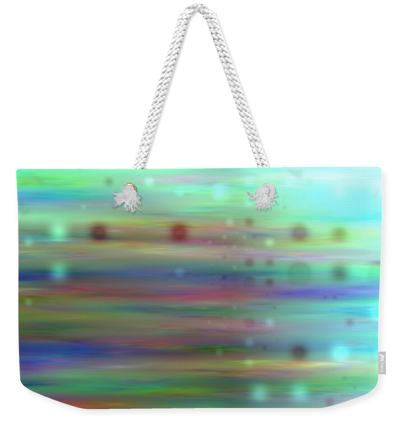 Art Digital Art Weekender Tote Bag featuring the digital art Colour16mlv - Impressions by Alex Porter