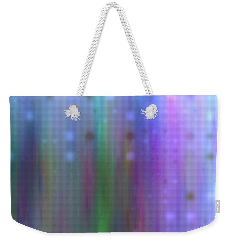 Art Digital Art Weekender Tote Bag featuring the digital art Colour4mlv - Impressions by Alex Porter