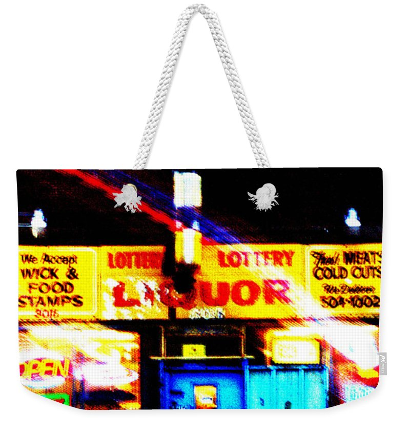 Store Weekender Tote Bag featuring the photograph Corner Store by Albert Stewart