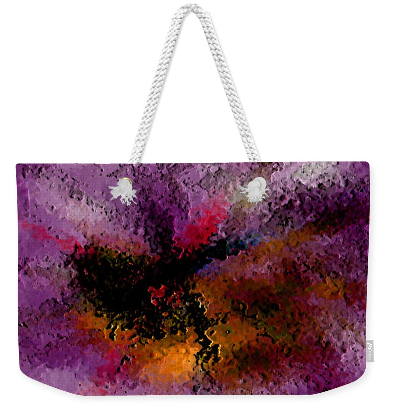Abstract Weekender Tote Bag featuring the digital art Damaged But Not Broken by Ruth Palmer