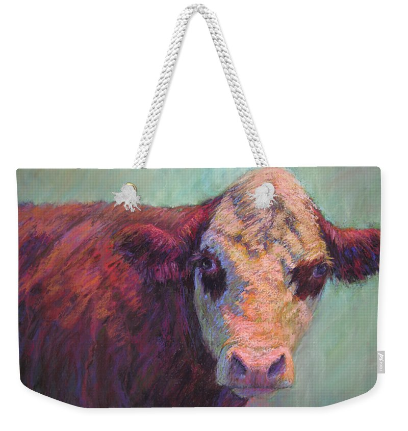 Farm Animals Weekender Tote Bag featuring the painting Guardian by Susan Williamson