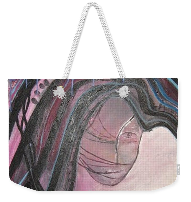Abstract Paintings Weekender Tote Bag featuring the painting I by Seon-Jeong Kim