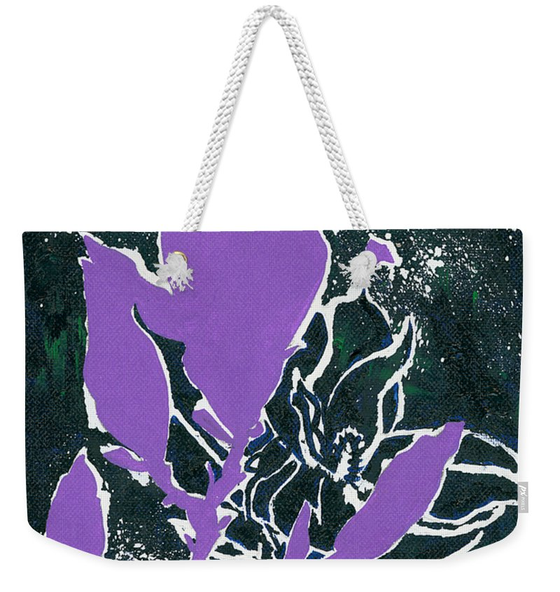 Flowers Weekender Tote Bag featuring the painting Magnolias by Elisabeta Hermann
